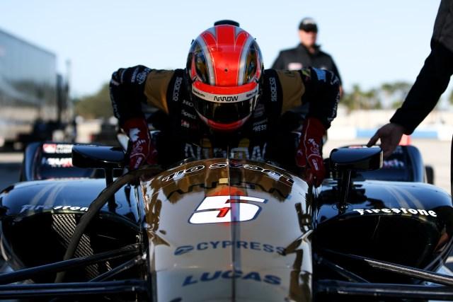 James Hinchcliffe at Sebring International Raceway
