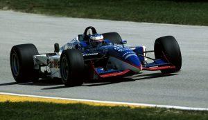 Scott Dixon in a PacWest Racing car in 2001.