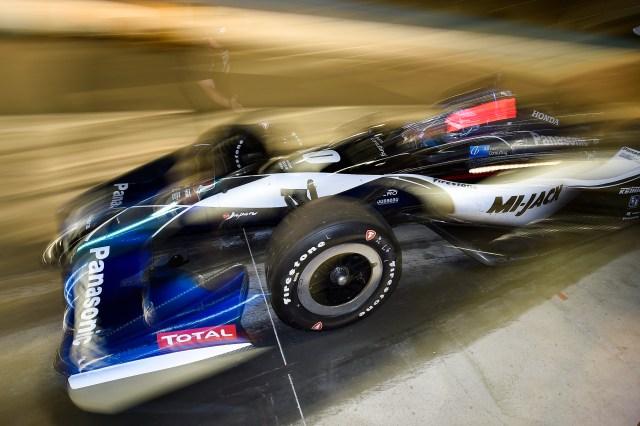 Graham Rahal at 2018 ISM Raceway test.