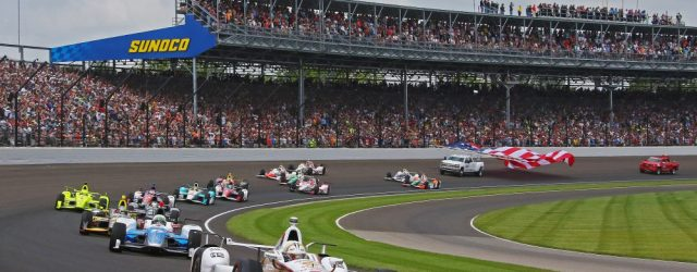 The field paces through turn one before the 2017 Indy 500