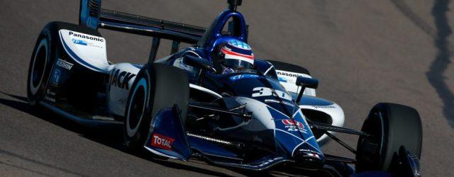 Takuma Sato testing at ISM Raceway