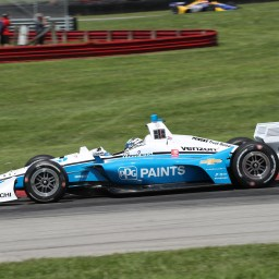 Josef Newgarden paces final warmup at Mid-Ohio