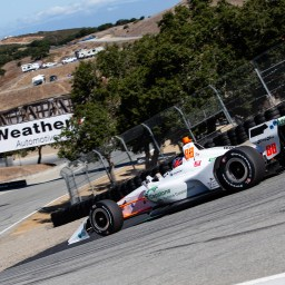 Colton Herta leads first practice at Laguna Seca