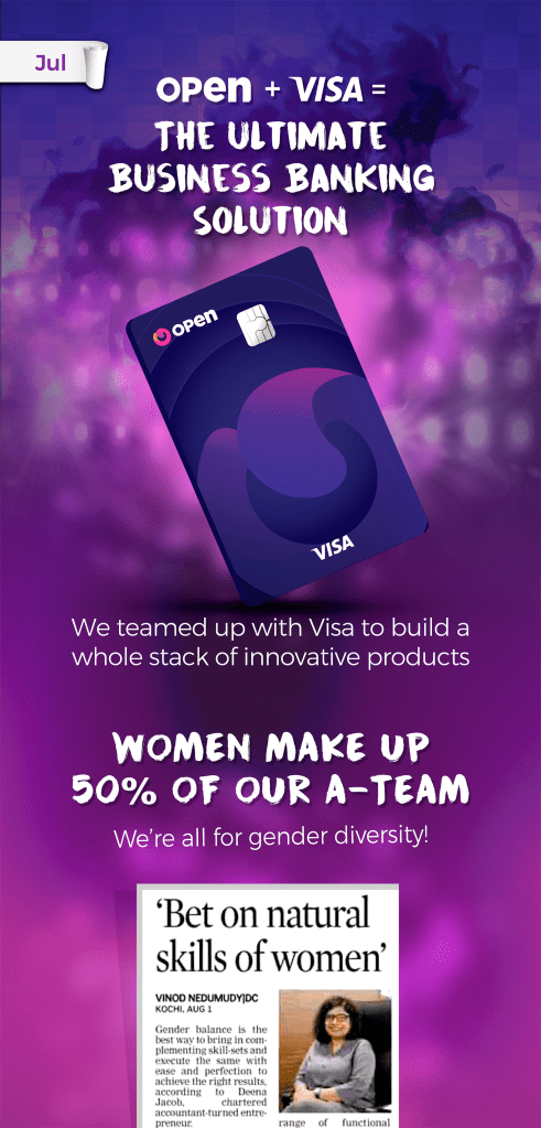 Open + Visa = The ultimate business banking solution and women make up 50% of our A-Team