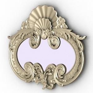 Vintage Decoration Mirror 3D Model