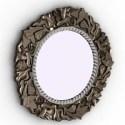 Vintage Round Mirror 3D Model