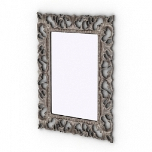 Curved Frame Decoration Mirror Free 3d Model 3ds Gsm