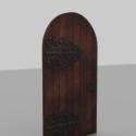 Vintage Medieval Door Free 3d Model