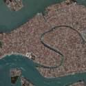Venice Aerial City Exterior Scene
