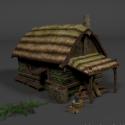 كوخ القرون الوسطى البيت