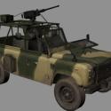 العسكرية قبالة الطريق شاحنة