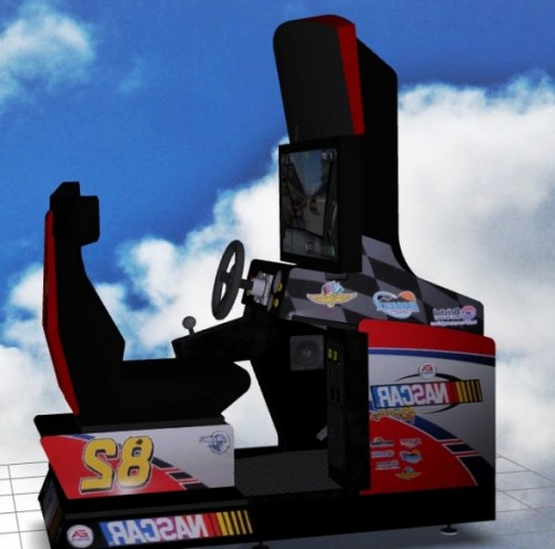 Nascar Sitdown Arcade Game Machine