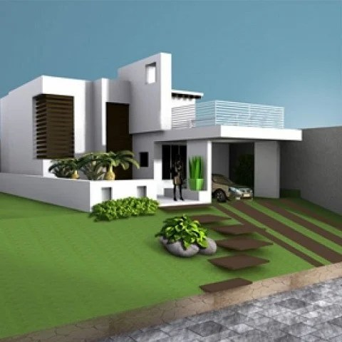 House Villa Residence Building Free 3d Model ID7056 - Free