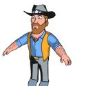 Cartoon Character Chuck Norris