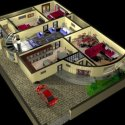 House Plan Interior With Furniture