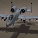 الولايات المتحدة الأمريكية 10 Thunderbolt Aircraft 3d Model