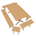 Wooden Outdoor Furniture Set