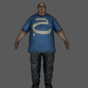 Obese Fat Male Character 3d Model