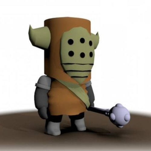Castle Crashers Bandit Character Free 3d Model -  C4d,  Obj