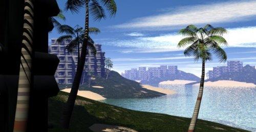 Dream Island Hotel Exterior Scene
