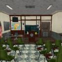 Briefing Room Interior Scene 3d Model