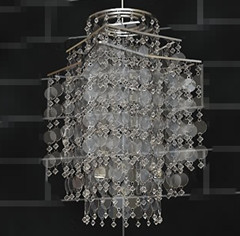 Flake Bead Curtain Chandelier 3d max Model