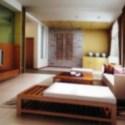 Wooden Furniture Living Room Interior Scene
