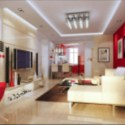 Modern Living Room Interior Scene 3d Max Model