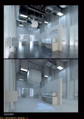 Minimalist Apple Store Building 3d Max Model 3dsMax