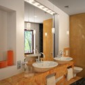 Fashion Bathroom Interior Scene