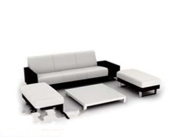 Modern Black White Sofa