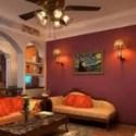 Warm Color Living Room Design 3d Max Model