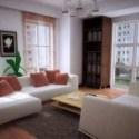 Multi Glass Windows Living Room 3d Max Model