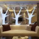 Modern Living Room Tree Stylish
