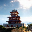 Chinese Traditional Tower Castle 3dsMax Model