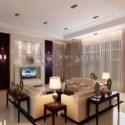 Spacious Living Design Interior Scene