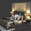 Dark Modern Bedroom Interior 3d Max Model