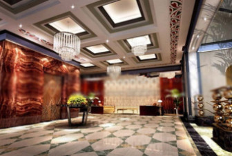Fortune Hotel Hall Design 3d Max Model Free