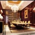 Large Family Restaurant Interior Scene