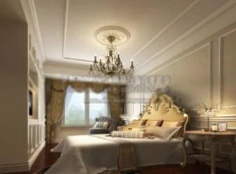 Modello 3d per interni camera da letto di lusso in stile ...