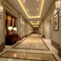 Interior Scene Hotel Corridor