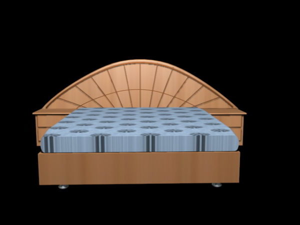 Modern Platform Bed With Nightstand