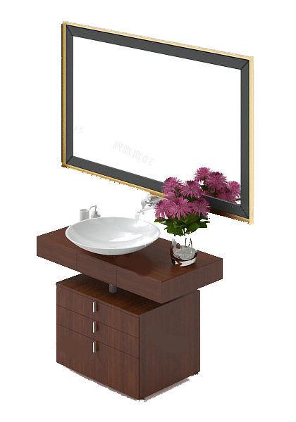 Bathroom Vanity With Bowl Sink Free 3d Model Max Open3dmodel 30359