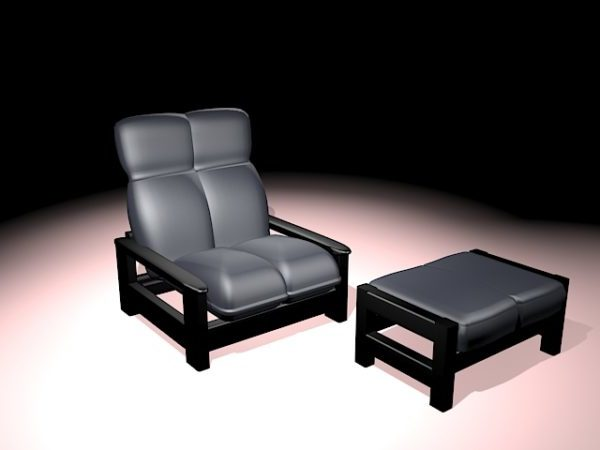 Awesome Lounge Chair With Ottoman Free 3Ds Max Model Max Short Links Chair Design For Home Short Linksinfo