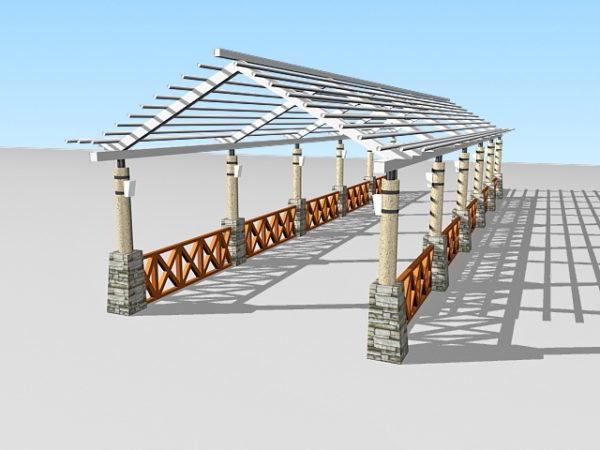 Garden Pergola Walkway
