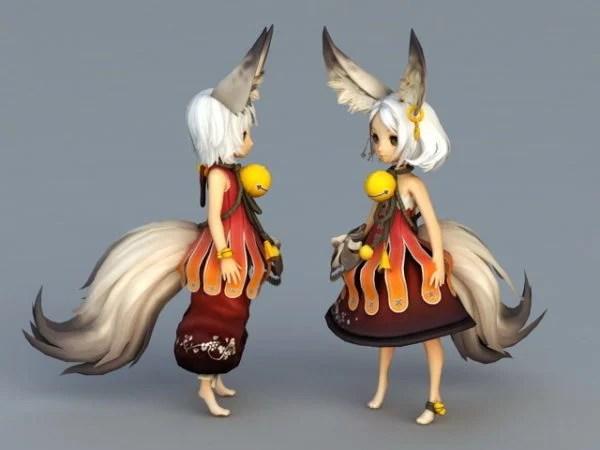 Anime Fox Girls Free 3d Model Max Open3dmodel 40437
