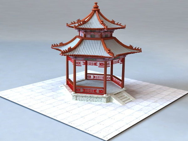 Traditional Chinese Garden Pavilion