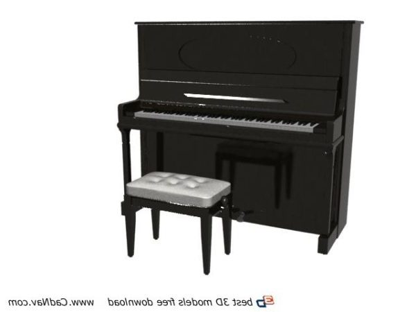 Upright Piano And Piano Stool