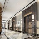 Luxury Design Hotel Lobby Interior Scene