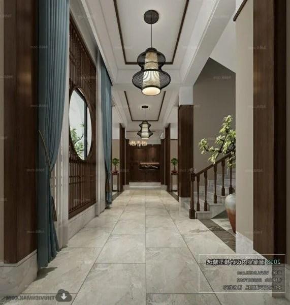 Simple Design Modern Lobby Interior Scene